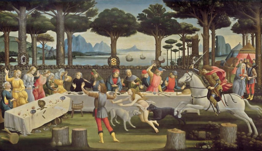 Sandro Botticelli, The Story of Nastagio degli Onesti (III)
