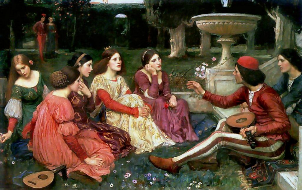 A Tale from the Decameron (1916) by John William Waterhouse.